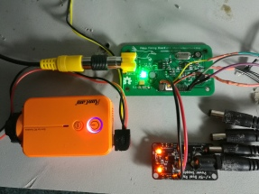 Video Timing Board connected to my Runcam 2, running from a 5V switching power supply.